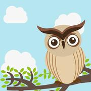 Stock Illustration of owl design , vector illustration