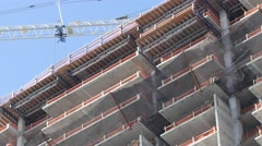 Highrise construction 4k video Stock Footage