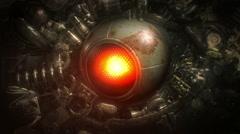 Robot eye looks around. Loop. Stock Footage