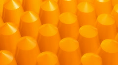Yellow pile array Stock Footage
