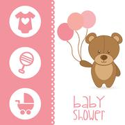 Stock Illustration of baby card  , vector illustration