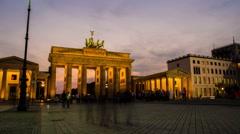 Pariser Platz and Brandenburger Tor Berlin Stock Footage