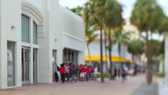 Lincoln road apple store lines 4k video Stock Footage
