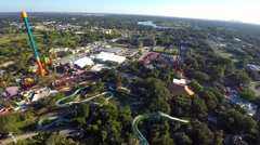 Busch gardens rollercoasters 4k video Stock Footage