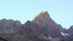 Morning light in the mountains. TimeLapse, Pamir, Tajikistan Stock Footage