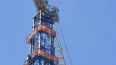 Construction crane closeup 4k video Stock Footage