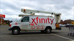 Comcast Xfinity cable van Stock Footage