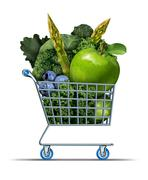 Healthy shopping Stock Illustration