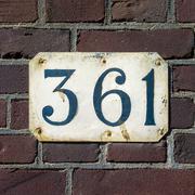 Number 361 Stock Photos