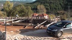 Construction site and roadway 2 Stock Footage