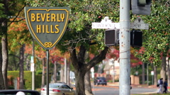 Beverly HIlls Sign 1 Stock Footage