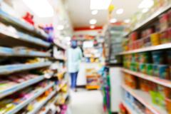 blurry convenience store - stock photo