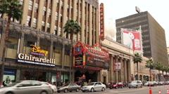 Hollywood Blvd El Capitan Theatre Stock Footage
