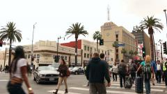 Hollywood and Highland Intersection People Stock Footage