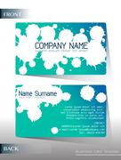 Stock Illustration of A calling card design