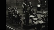 Factory worker and their family performing at Youngstown Symphony Orchestra Stock Footage
