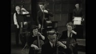 Factory workers performing in Youngstown Symphony Orchestra Stock Footage