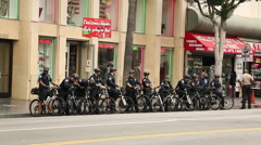 Hollywood Bike Cops - stock footage