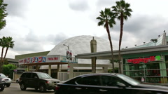 Pacific's Cinerama Dome Theatre Hollywood Stock Footage