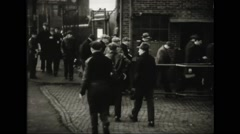Factory workers leaving for home Free Stock Footage