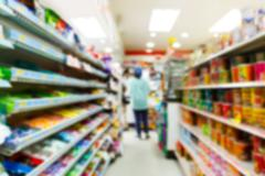 Stock Photo of blurry convenience store