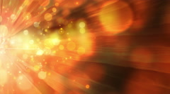 4K. Abstract motion background, shining light, stars, particles, rays, loop. Stock Footage