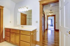 Maple bathroom vanity cabinet Stock Photos