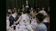 Rabbi and Jewish families praying together during Passover festival Stock Footage