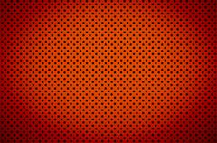 Gradient red color perforated metal sheet Stock Photos