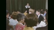 Rabbi talking to Jewish congregation during Passover festival Stock Footage