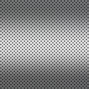 gradient white color perforated metal sheet - stock photo