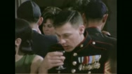 Officer drinking wine during Passover festival Stock Footage