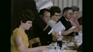 Servicemen and their family picking their wine glasses during Passover festival Stock Footage