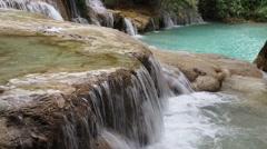 Kuang Si Falls in Luang Prabang, Laos Stock Footage