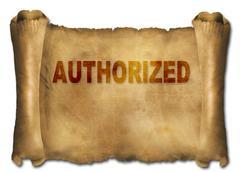 Stock Illustration of authorized