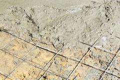 concrete floor pouring - stock photo
