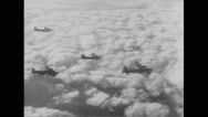 Allied Boeing B-17s flying in sky Stock Footage