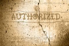 authorized - stock illustration