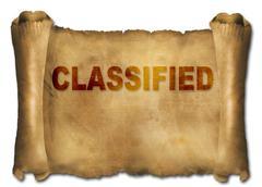 classified - stock illustration