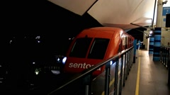 Start Sentosa Express train from platform Stock Footage