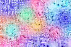 Abstract electronic circuit background Stock Illustration
