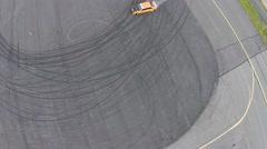 Aerial drifting footage - stock footage