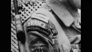 Close-up of French soldier smiling Stock Footage