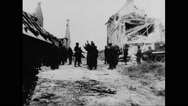 German soldiers surrendering to allied forces Stock Footage