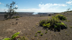 Kilauea Caldera Volcanoes National Park Time Lapse Stock Footage
