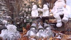 BRUGGE, BELGIUM - NOVEMBER 28 2014: Christmas showcase. Stock Footage