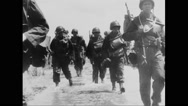 Allied soldiers advancing towards Berlin Stock Footage