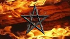 evil pentagram - stock footage
