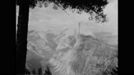 View of Yosemite National Park Stock Footage
