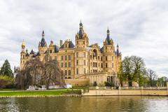 famous schwerin castle , germany - stock photo